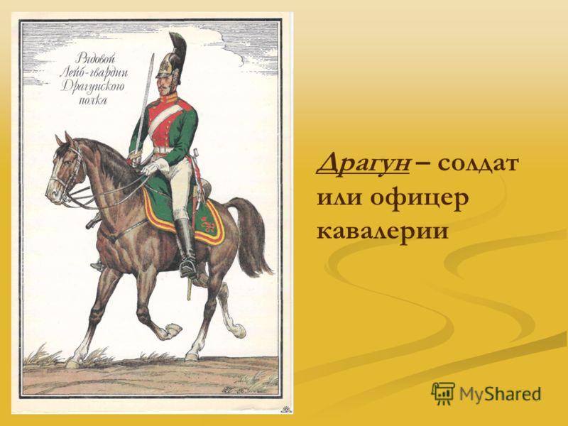 Драгун – солдат или офицер кавалерии