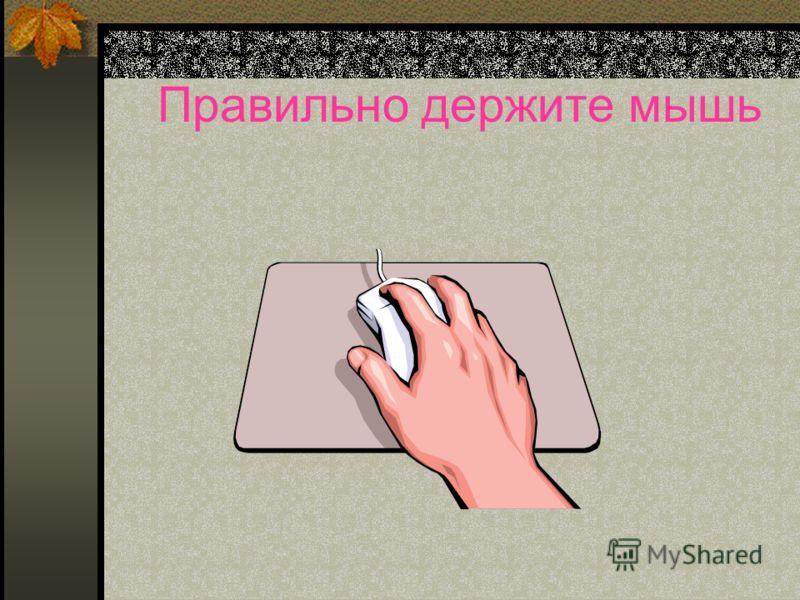 Правильно держите мышь