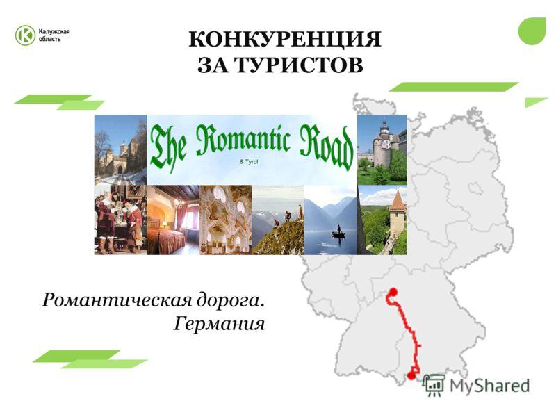 КОНКУРЕНЦИЯ ЗА ТУРИСТОВ Романтическая дорога. Германия