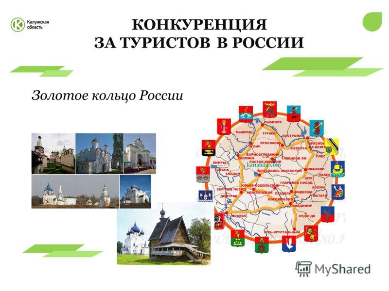 КОНКУРЕНЦИЯ ЗА ТУРИСТОВВ РОССИИ Золотое кольцо России