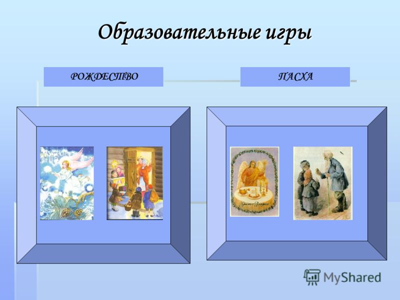 Образовательные игры РОЖДЕСТВОПАСХА