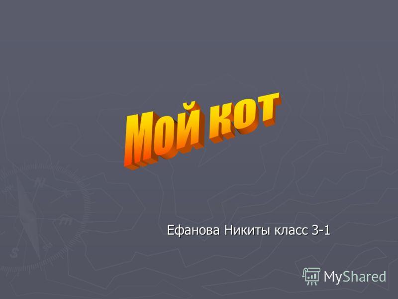 Ефанова Никиты класс 3-1 Ефанова Никиты класс 3-1