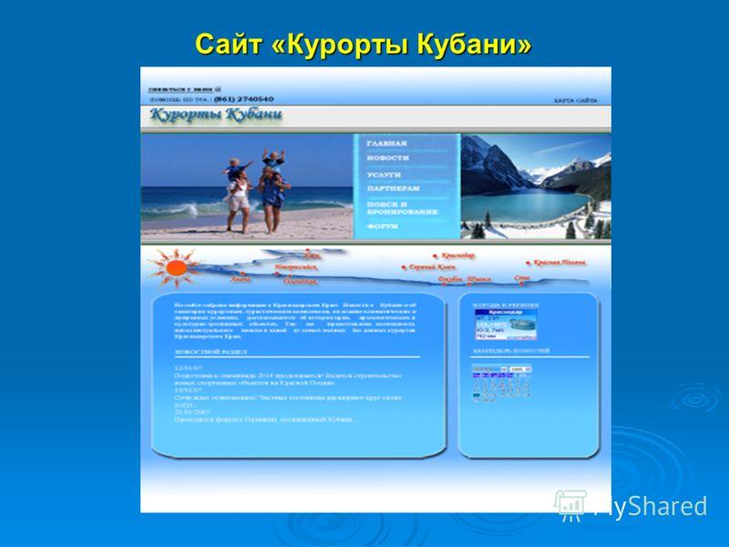 Сайт «Курорты Кубани»