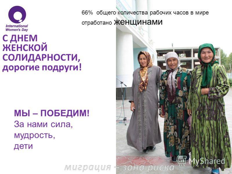70% населения, живущего за чертой бедности, составляют женщины и девочки