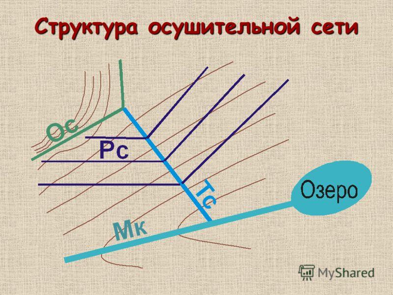 Структура осушительной сети