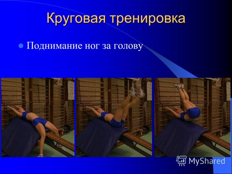 Круговая тренировка Поднимание ног за голову