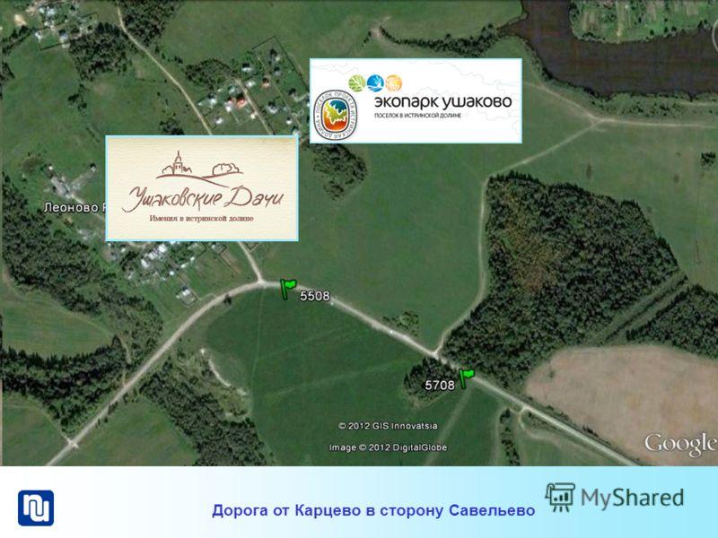 Дорога от Карцево в сторону Савельево