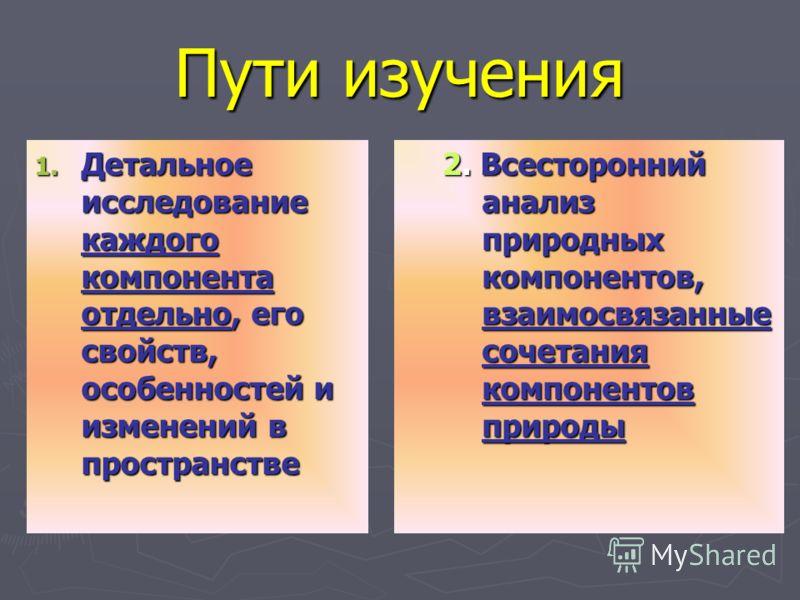 Физическая география России изучает ПриродуПриродные ресурсы