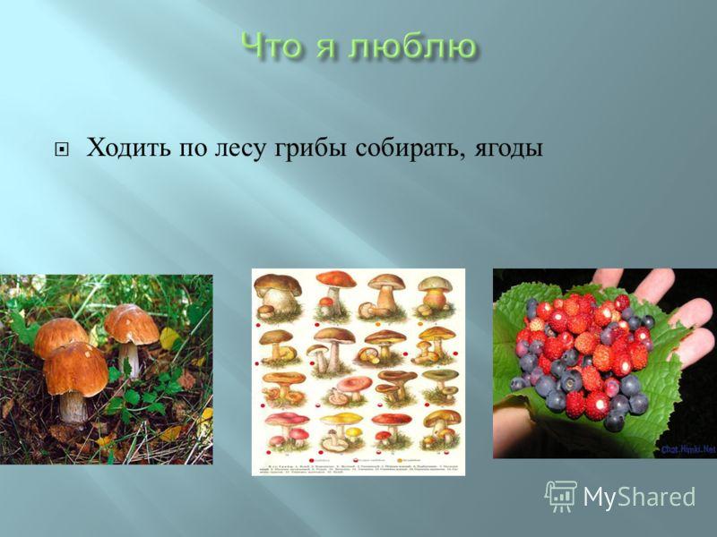Ходить по лесу грибы собирать, ягоды