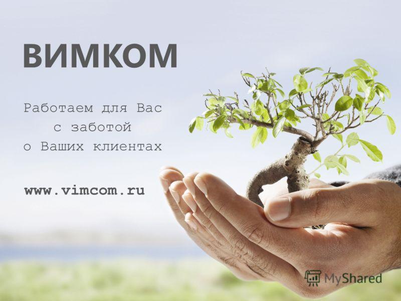 ВИМКОМ Работаем для Вас с заботой о Ваших клиентах www.vimcom.ru