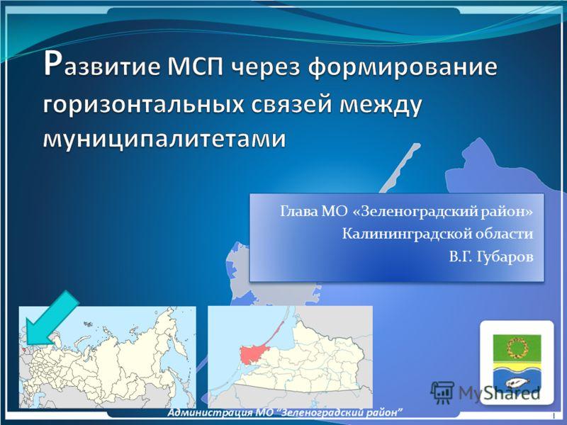 Глава МО «Зеленоградский район» Калининградской области В.Г. Губаров 1