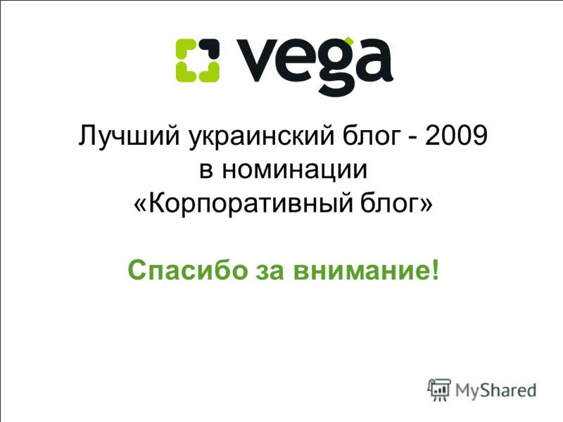 99 Лучший украинский блог - 2009 в номинации «Корпоративный блог» Спасибо за внимание!