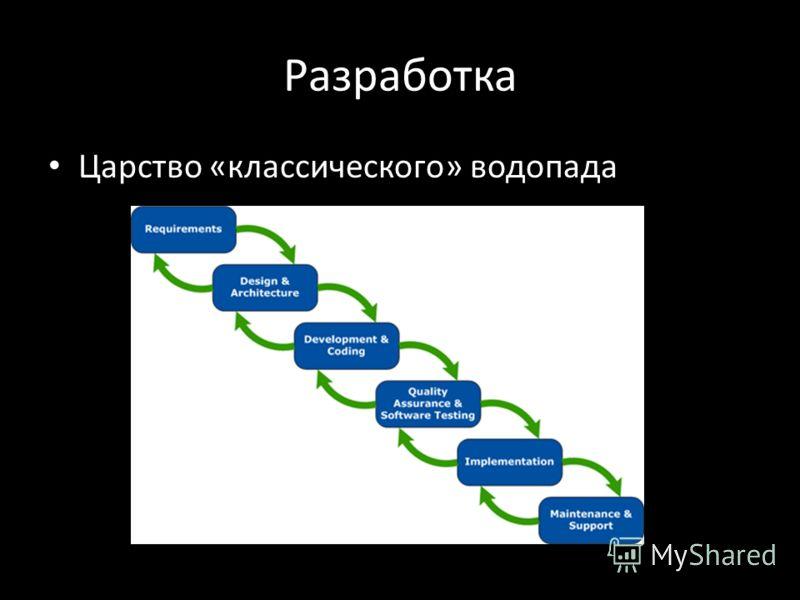 Разработка Царство «классического» водопада