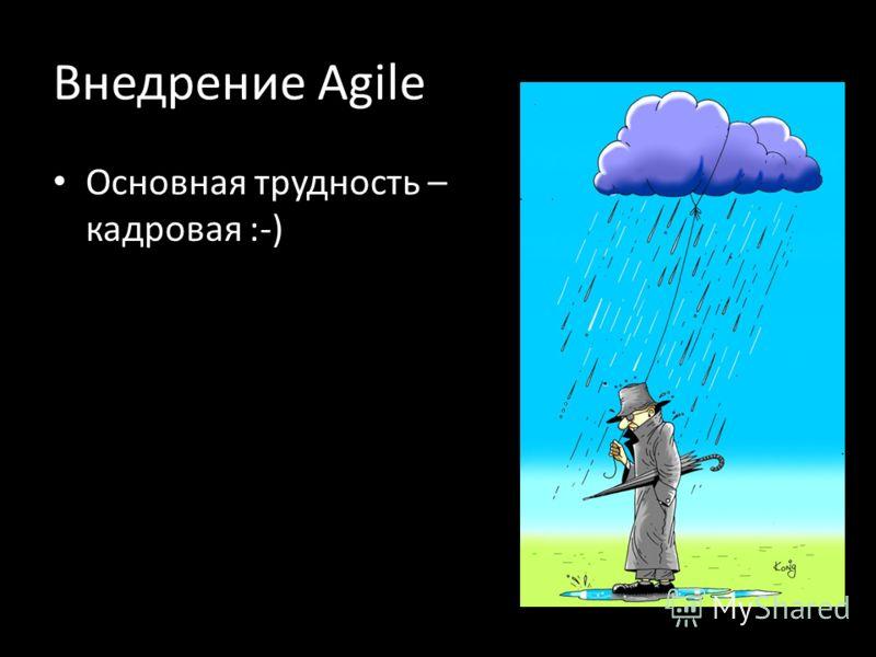 Внедрение Agile Основная трудность – кадровая :-)