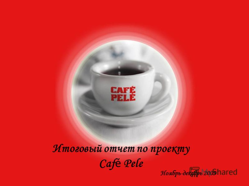 Итоговый отчет по проекту Caf é Pele Ноябрь-декабрь 2009