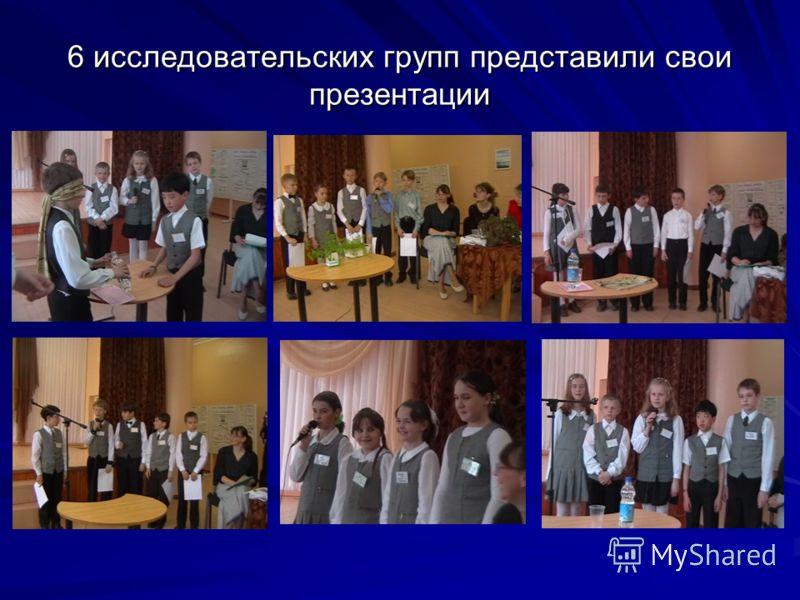 6 исследовательских групп представили свои презентации