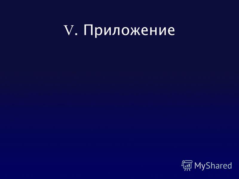 V. Приложение
