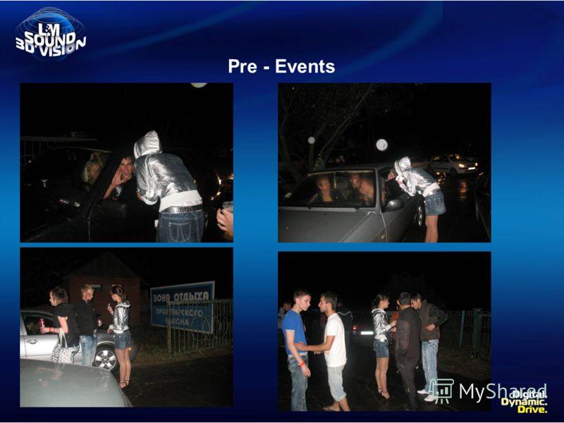 Pre - Events