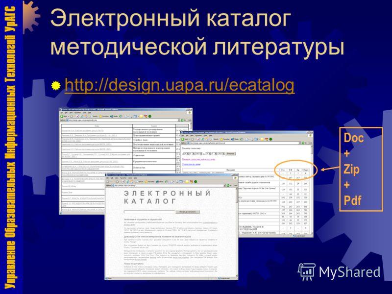 Электронный каталог методической литературы http://design.uapa.ru/ecatalog Doc + Zip + Pdf