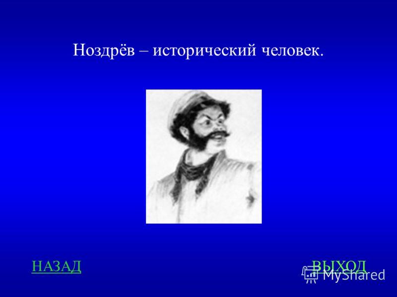 НАЗАДВЫХОД Ноздрёв – исторический человек.