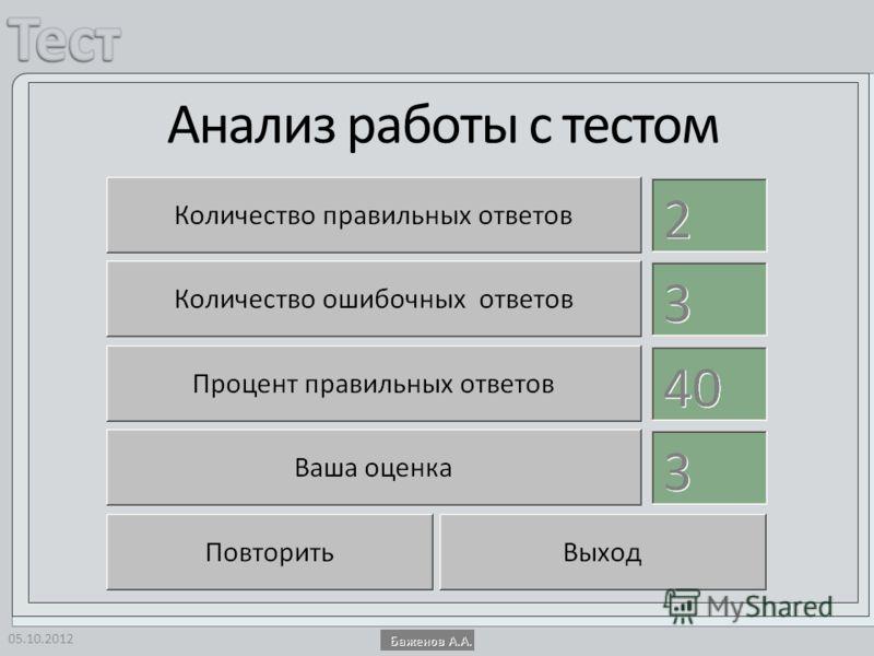 Анализ работы с тестом 14.08.2012