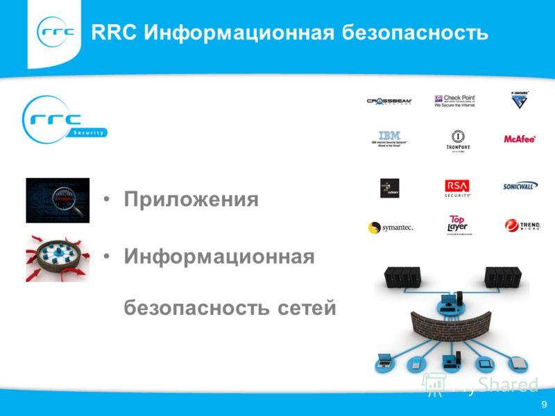 RRC Информационная безопасность 9 Приложения Информационная безопасность сетей