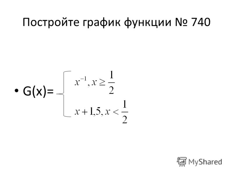Постройте график функции 740 G(x)=