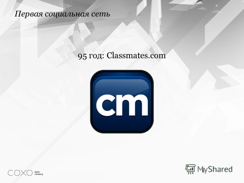Первая социальная сеть 5 95 год: Classmates.com