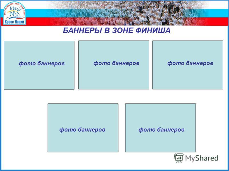 БАННЕРЫ В ЗОНЕ ФИНИША фото баннеров