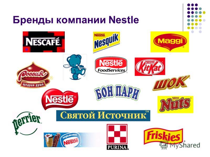 Бренды компании Nestle