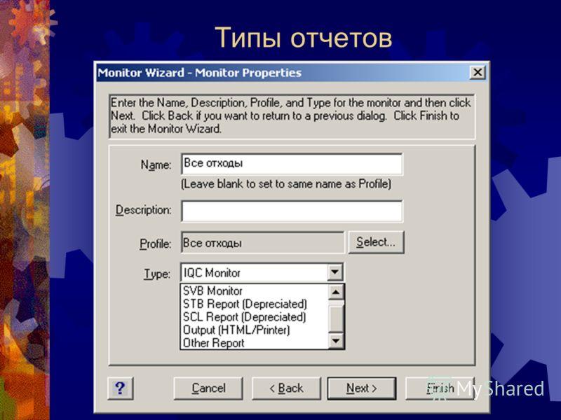 Типы отчетов
