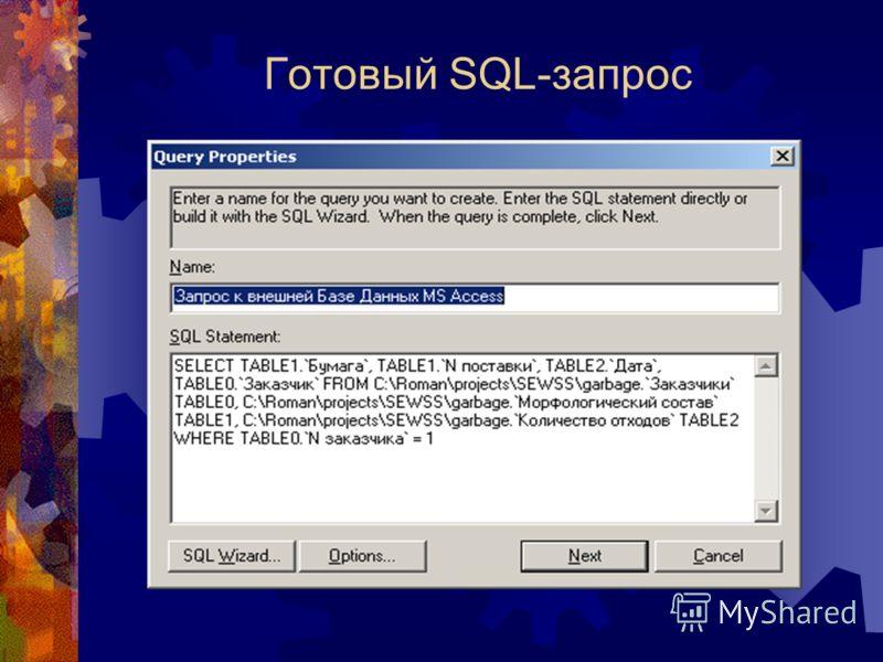 Готовый SQL-запрос