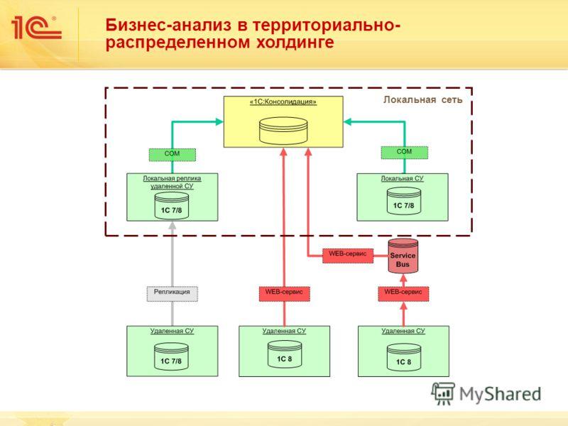 Бизнес-анализ в территориально- распределенном холдинге Локальная сеть