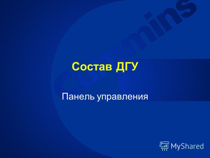 Состав ДГУ Панель управления