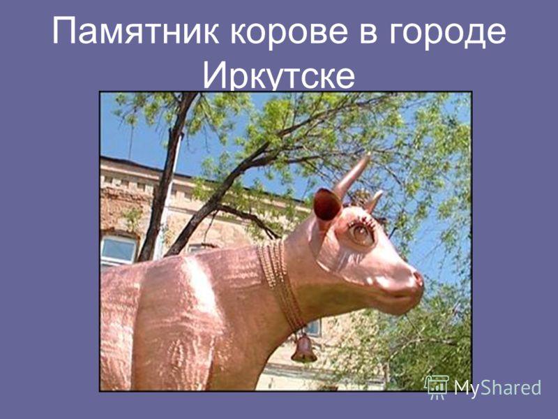 Памятник корове в городе Иркутске