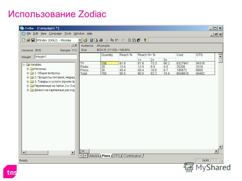 Использование Zodiac