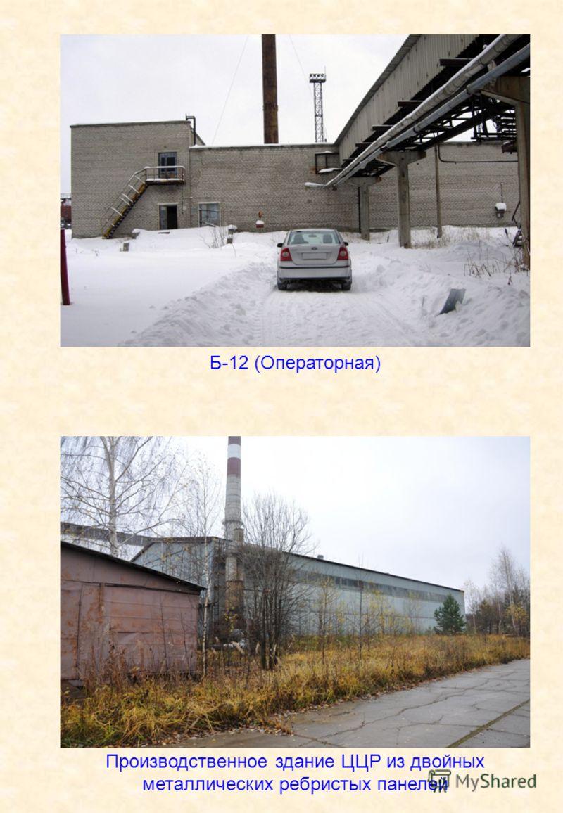 Производственное здание ЦЦР из двойных металлических ребристых панелей Б-12 (Операторная)