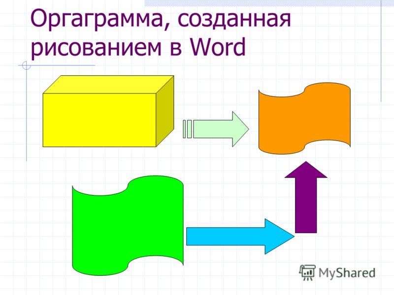 Оргаграмма, созданная рисованием в Word