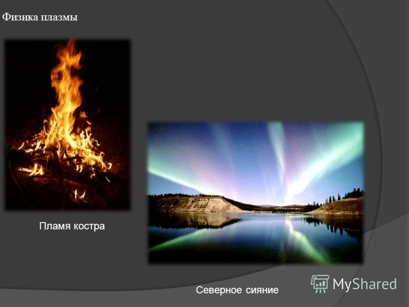 Физика плазмы Пламя костра Северное сияние