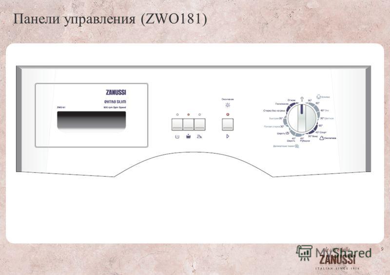 9 Панели управления (ZWO181)