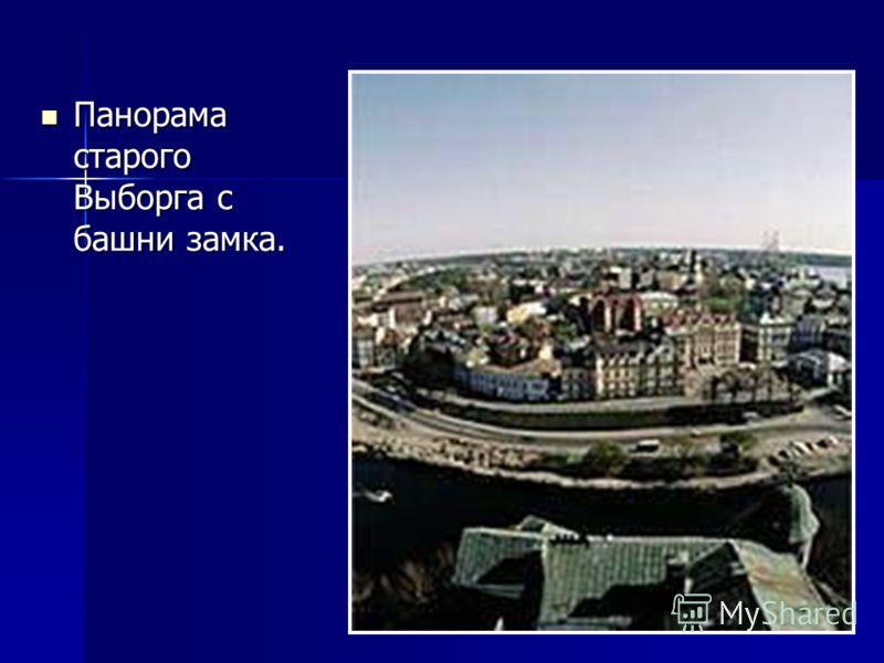 Панорама старого Выборга с башни замка. Панорама старого Выборга с башни замка.