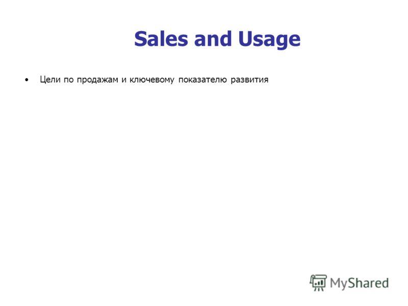 Sales and Usage Цели по продажам и ключевому показателю развития