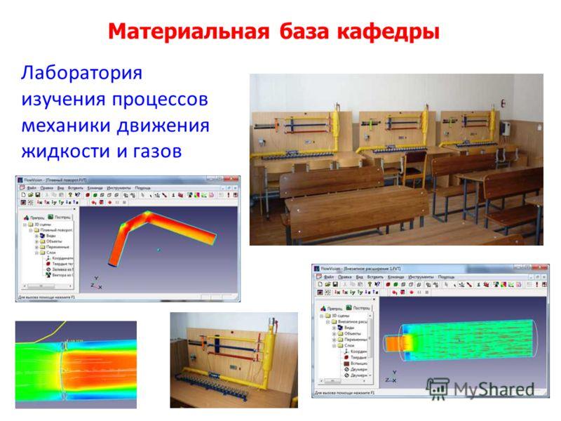 Материальная база кафедры Лаборатория изучения процессов механики движения жидкости и газов
