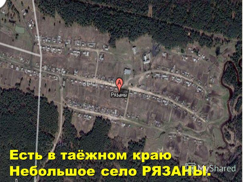 Есть в таёжном краюНебольшое село РЯЗАНЫ.