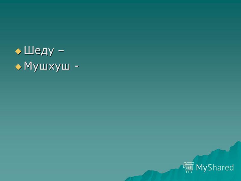 Шеду – Мушхуш -