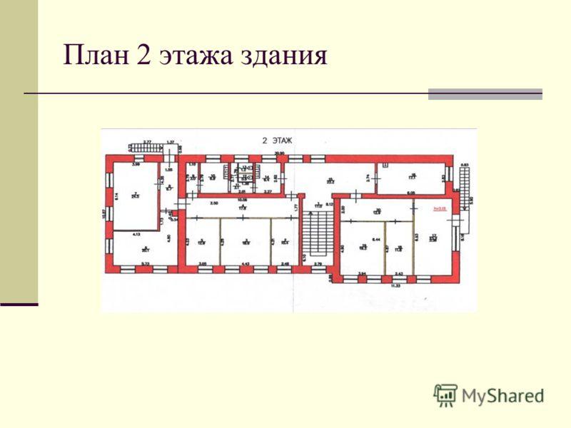 План 2 этажа здания
