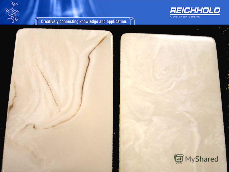 Смолы для изготовления оникса Polylite 32032-20 Ортофталиевая Слабо активная УФ-стабилизированная Бесцветная, прозрачная после отверждения Вязкость 300-400 mPa.s Время гелеобразования 18-30 min. Polylite 32152-00 Ортофталиевая Слабо активная УФ-стаби