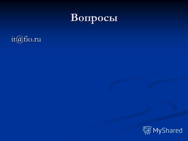 Вопросы it@fio.ru