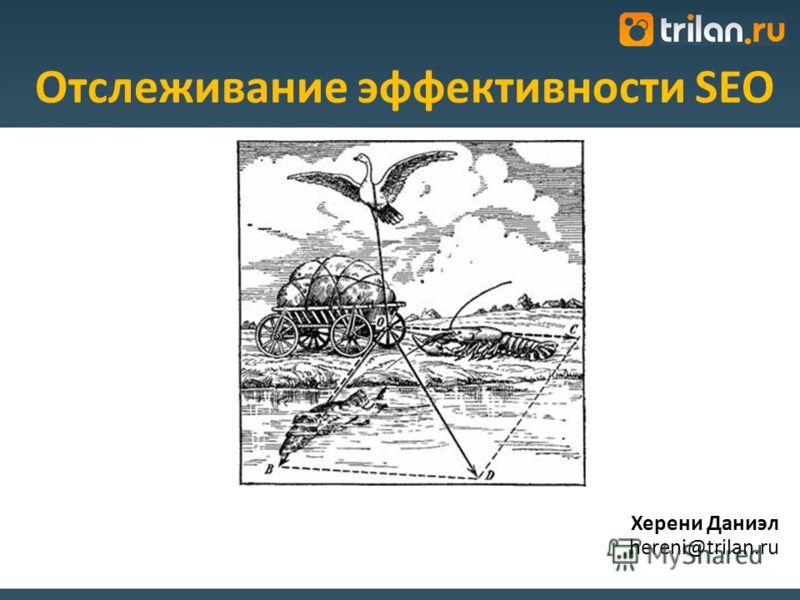 Херени Даниэл hereni@trilan.ru Отслеживание эффективности SEO