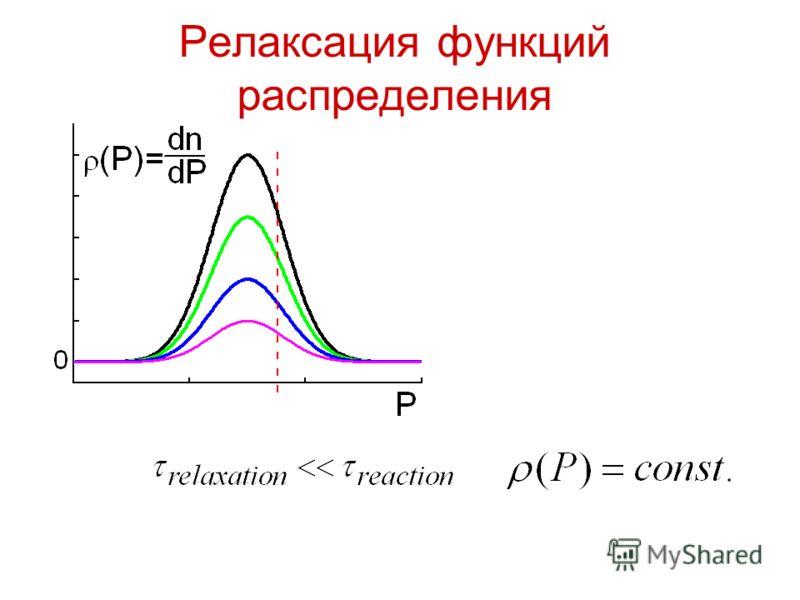 Релаксация функций распределения